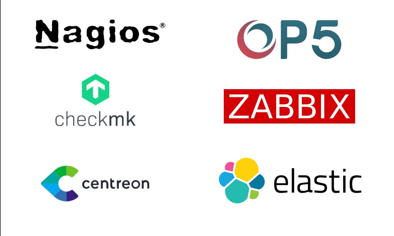 logo Nagios, ITRIS OP5, Zbbix, Elastic.
